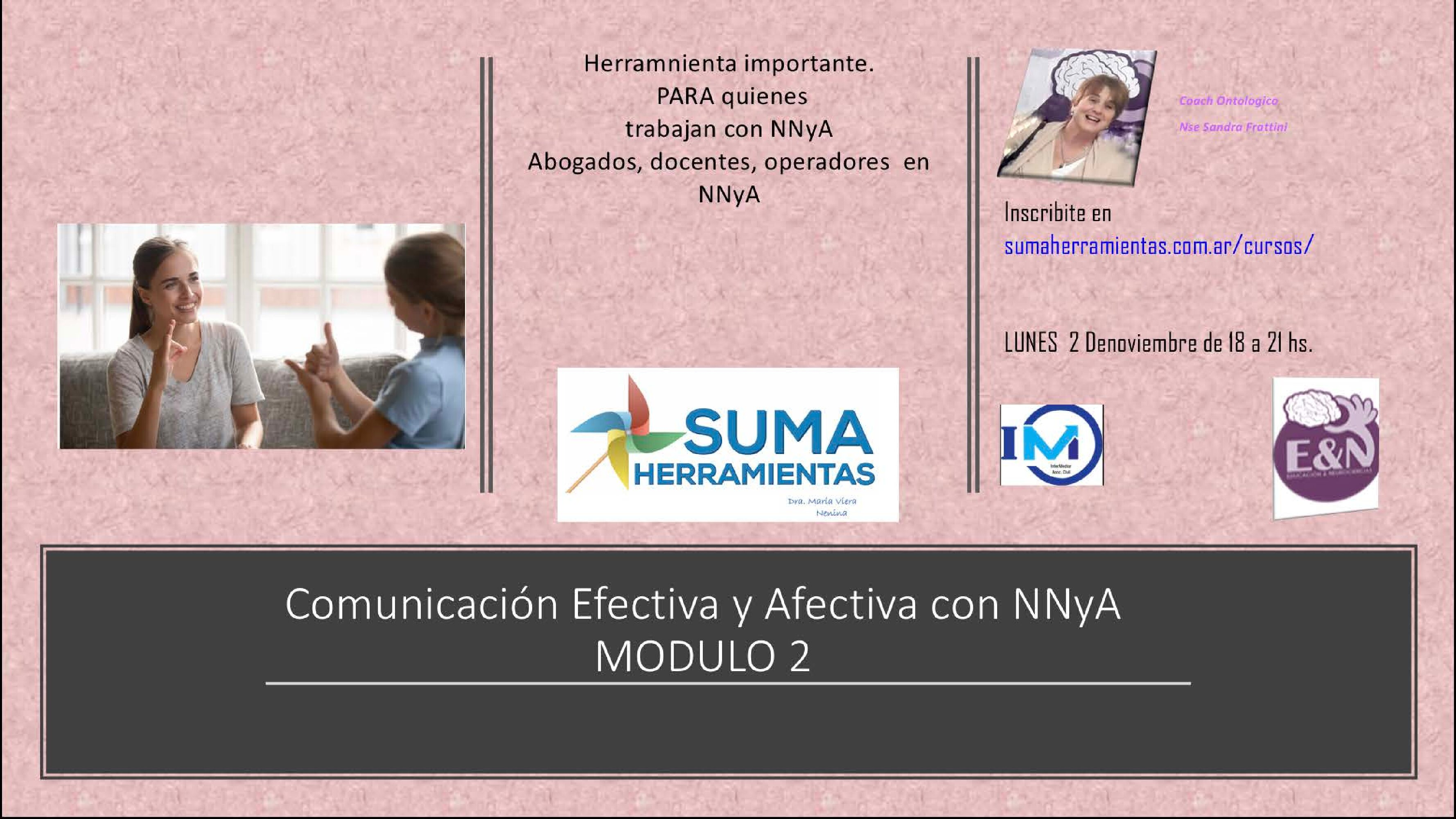 Docentes, abogados, operadores  de NNyA comunicacion Afectiva y Efectiva. By  Sandra Frattini