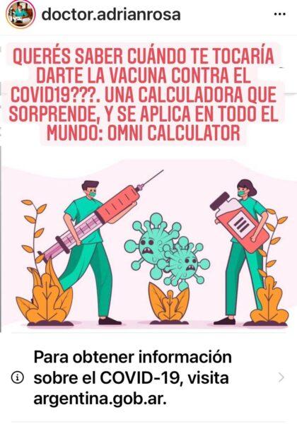 🔎OMNI CALCULATOR:permite saber cuándo sería el turno de vacunación.